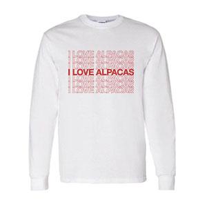 I Love Alpacas Long Sleeve T-shirt